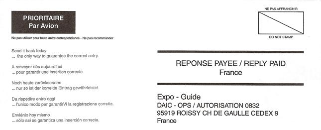Expo-Scam Envelope